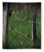 Goldfinch Gathering Fleece Blanket
