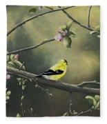 Goldfinch Fleece Blanket