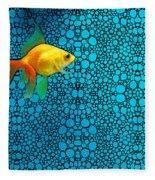 Goldfish Study 3 - Stone Rock'd Art By Sharon Cummings Fleece Blanket