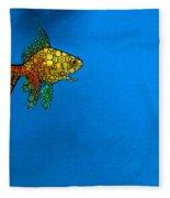 Goldfish Study 4 - Stone Rock'd Art By Sharon Cummings Fleece Blanket