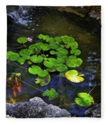Goldfish With Lily Pads Fleece Blanket