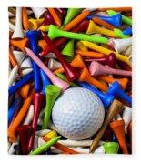 Golf Ball And Tees Fleece Blanket