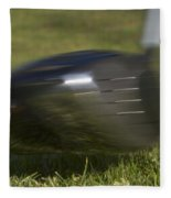 Golf Ball On Tee Hit By Driver Fleece Blanket