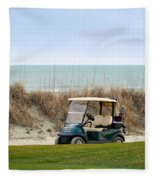 Golf Cart At Kiawah Island Golf Course Fleece Blanket
