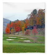Golf Course At Lake Toxaway Fleece Blanket
