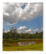 Golf Course Landscape Fleece Blanket
