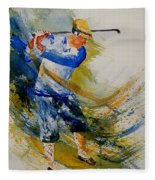 Golf Player Fleece Blanket