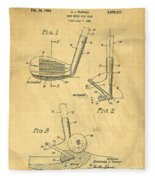 Golf Sand Wedge Patent On Aged Paper Fleece Blanket