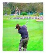 Golf Swing Drive Fleece Blanket