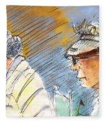 Golfers In Soufflenheim 02 Fleece Blanket