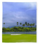 Golfer's Paradise Fleece Blanket