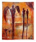 Golgotha Petroglyph Fleece Blanket