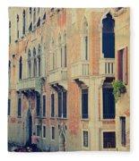 Gondola In Venice  Fleece Blanket