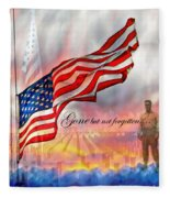 Gone But Not Forgotten Military Memorial Fleece Blanket