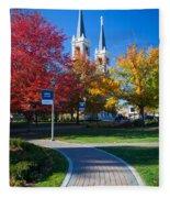 Gonzaga Pathway Fleece Blanket