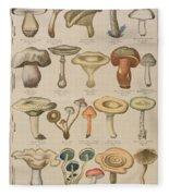 Good And Bad Mushrooms Fleece Blanket