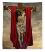 His Ultimate Gift Of Mercy - Jesus Christ Fleece Blanket