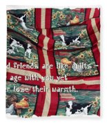 Good Friends Are Like Quilts Fleece Blanket