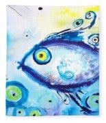 Good Luck Fish Abstract Fleece Blanket