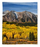 Good Morning Colorado Fleece Blanket