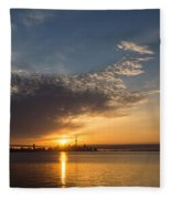 Good Morning Toronto With A Glorious Sunrise Fleece Blanket