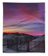 Good Night Cape Cod Fleece Blanket