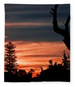 Good Night Trees Fleece Blanket