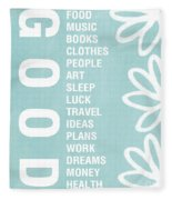 Good Things Blue Fleece Blanket