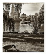 Goose In Central Park Nyc Fleece Blanket