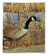 Goose On The Edge Fleece Blanket