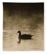 Goose Silhouette Fleece Blanket