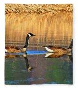Goose Talk Too Fleece Blanket