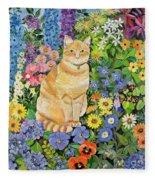 Gordon S Cat Fleece Blanket