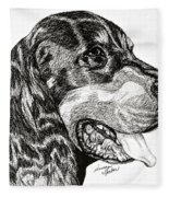 Gordon Setter Fleece Blanket