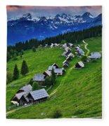 Goreljek Shepherding Village In Alpine Fleece Blanket