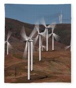 Gorge Windmills Fleece Blanket