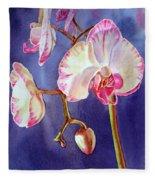 Gorgeous Orchid Fleece Blanket