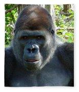 Gorilla Headshot Fleece Blanket