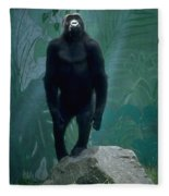 Gorilla Rock Fleece Blanket