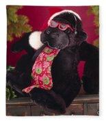 Gorilla With Shades-faa Fleece Blanket
