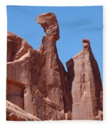 Gossips At Arches National Park Fleece Blanket