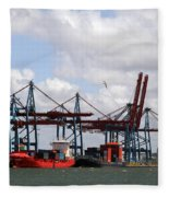 Gothenburg Harbour 07 Fleece Blanket