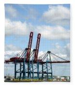 Gothenburg Harbour 08 Fleece Blanket