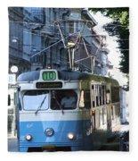 Gothenburg Tram 01 Fleece Blanket