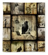 Gothic And Crows Fleece Blanket