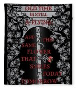 Gothic Celtic Impermanence Fleece Blanket