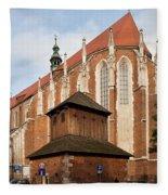 Gothic Church Of St. Catherine In Krakow Fleece Blanket