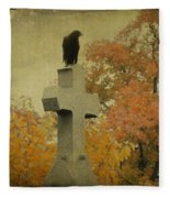 Gothic Fall Crow Fleece Blanket