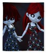 Gothic Rag Dolls Fleece Blanket