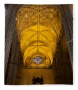 Gothic Vault Of The Seville Cathedral Fleece Blanket
